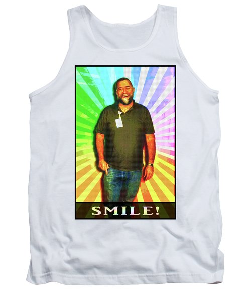 Tank Top featuring the mixed media The Healing Smile Mosaic by Shawn Dall
