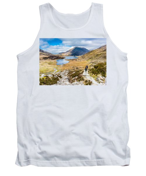 Tank Top featuring the photograph The Hike Back Down by Nick Bywater