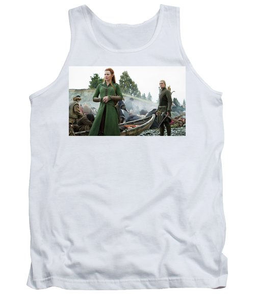 The Hobbit The Battle Of The Five Armies Evangeline Lilly Orlando Bloom Tank Top