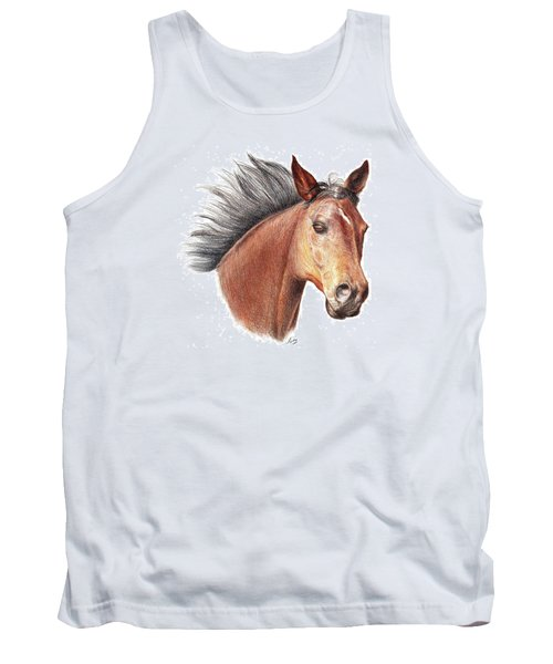 Tank Top featuring the drawing The Horse by Mike Ivey