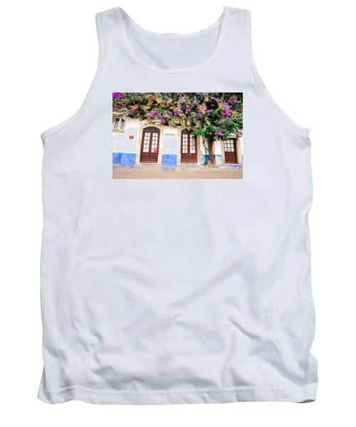 The House With The Bougainvillea Tank Top by Marwan Khoury
