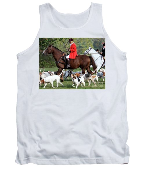 Tank Top featuring the photograph The Hunt Is On by Polly Peacock