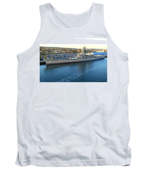 Tank Top featuring the photograph The Iowa At Sunset by Joe Kozlowski