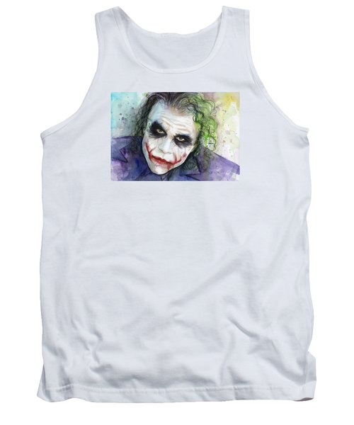 The Joker Watercolor Tank Top