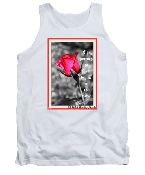 Tank Top featuring the digital art The Journey Begins by Holley Jacobs