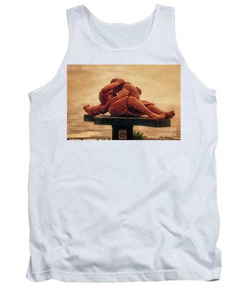 Tank Top featuring the photograph The Kiss - Peru by Mary Machare