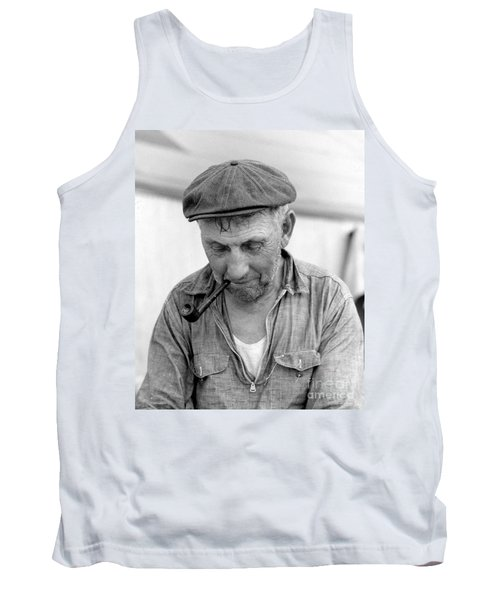 Tank Top featuring the photograph The Pipe Smoker by John Stephens