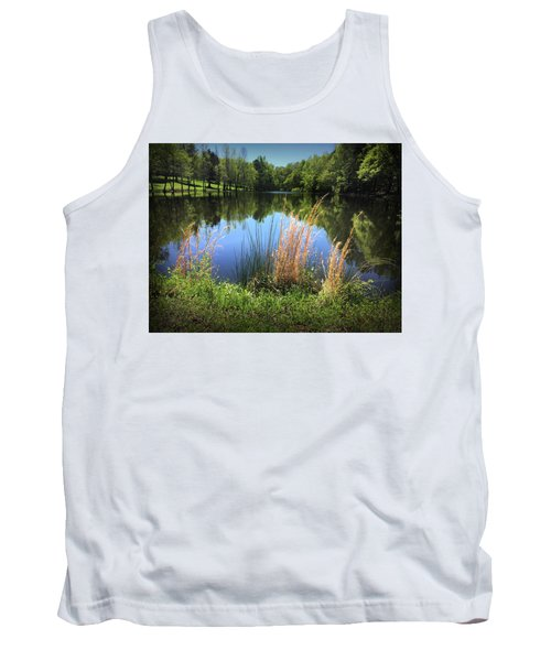 The Lake At Musgrove Mill Tank Top by Kelly Hazel