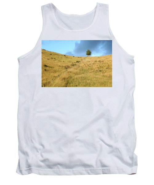 Tank Top featuring the photograph The Lines The Tree And The Hill by Yoel Koskas