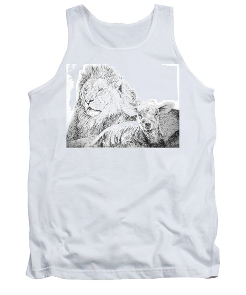 The Lion And The Lamb Tank Top by Bryan Bustard
