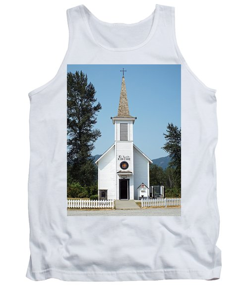 The Little White Church In Elbe Tank Top by Joseph Hendrix