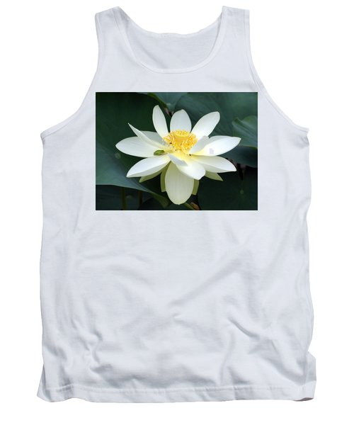 Tank Top featuring the photograph The Lotus Flower The Frog And The Bee by Gary Crockett
