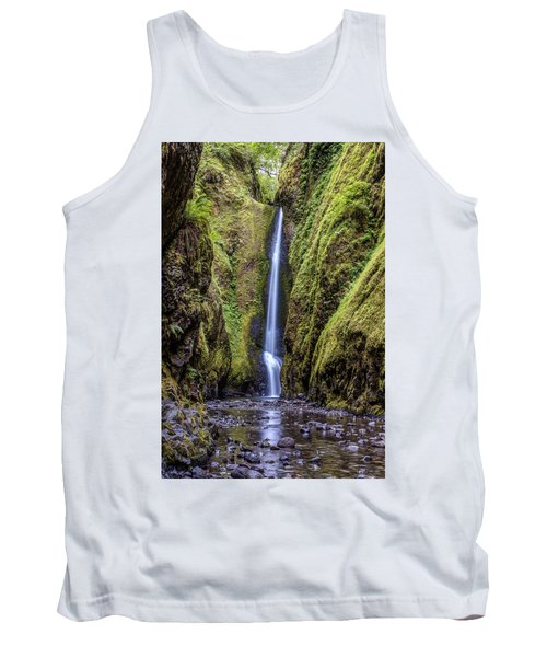 Tank Top featuring the photograph The Lush And Green Lower Oneonta Falls by Pierre Leclerc Photography