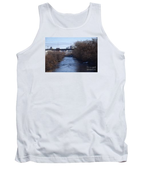 The Menomonee Near 33rd And Canal Streets Tank Top by David Blank