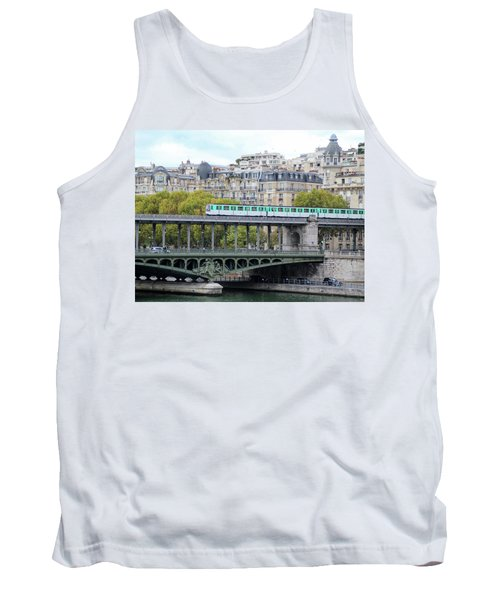 Tank Top featuring the photograph The Metro On The Bridge by Yoel Koskas