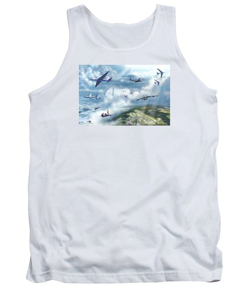 Tank Top featuring the painting The Mighty Loring A F B by Dave Luebbert