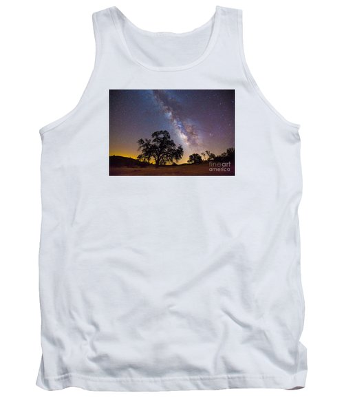 The Milky Way And Perseids Tank Top
