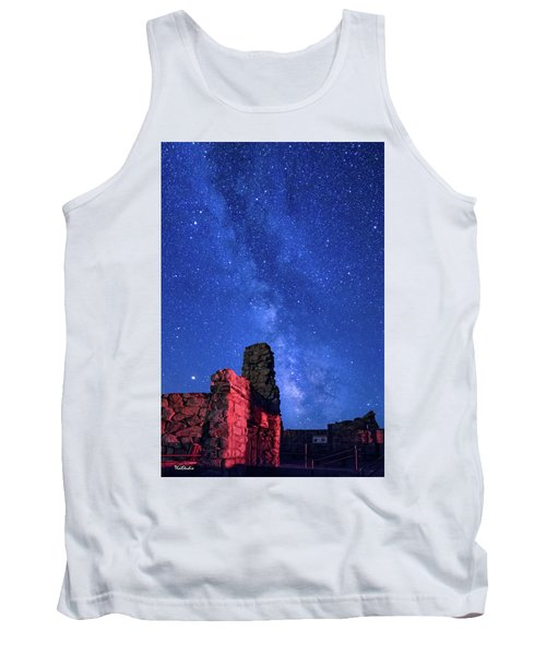 The Milky Way Over The Crest House Tank Top