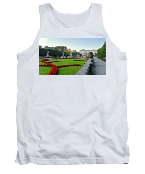 Tank Top featuring the photograph The Mirabell Palace In Salzburg by Silvia Bruno