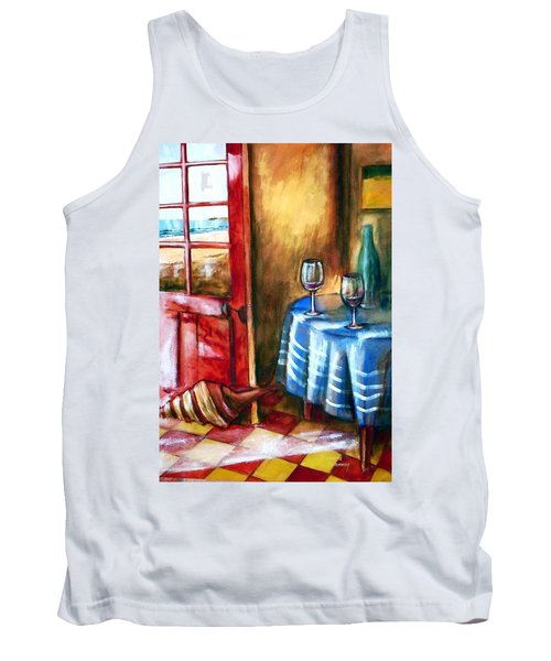 Tank Top featuring the painting The Mystery Room by Winsome Gunning