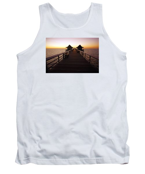 Tank Top featuring the photograph The Naples Pier At Twilight - 01 by Robb Stan