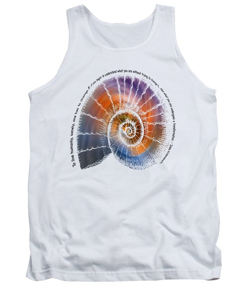 The Nautilus Shell Transparent -  Quote Tank Top