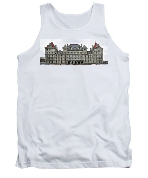 The New York State Capitol In Albany New York Tank Top by Brendan Reals