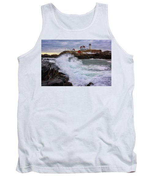 Tank Top featuring the photograph The Nubble After A Storm by Rick Berk