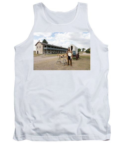 The Old Cavalry Barracks At Fort Laramie National Historic Site Tank Top by Carol M Highsmith