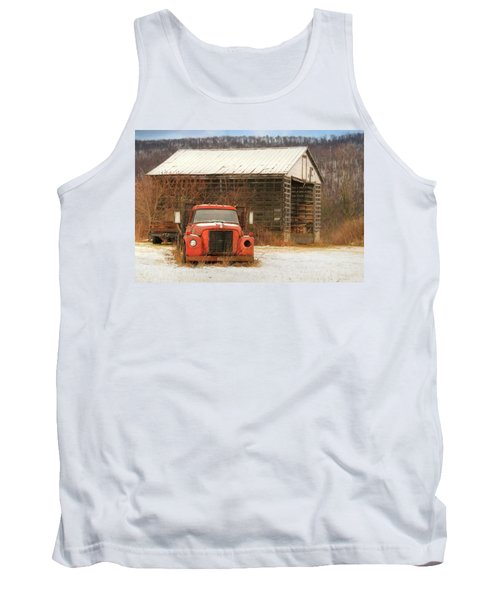 Tank Top featuring the photograph The Old Lumber Truck by Lori Deiter