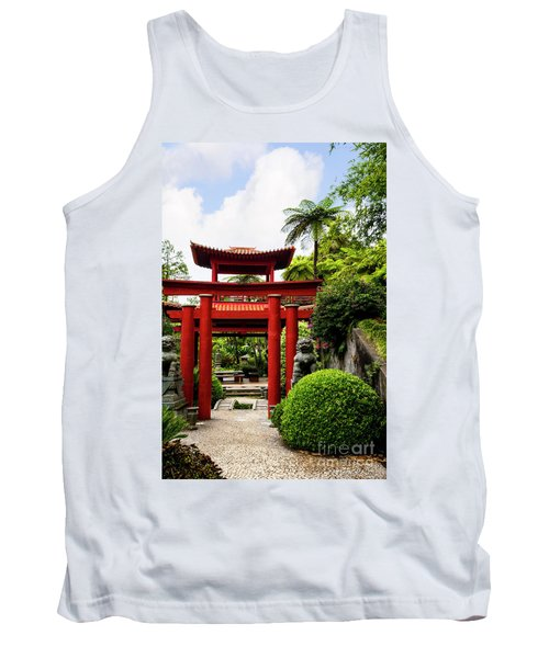 The Oriental Gate To Happiness Tank Top
