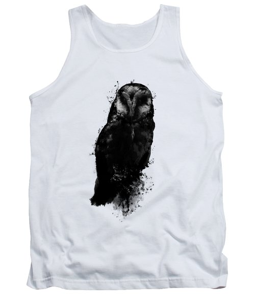 Tank Top featuring the mixed media The Owl by Nicklas Gustafsson