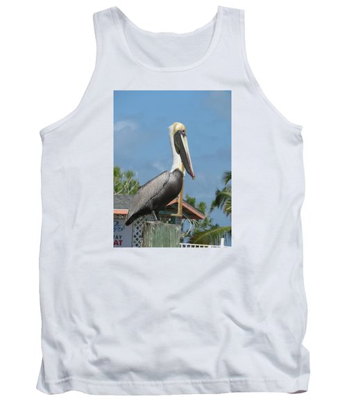 Tank Top featuring the photograph The Pelican by Robin Regan