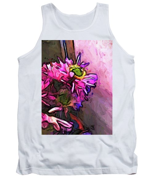 The Pink And Purple Flower By The Pale Pink Wall Tank Top