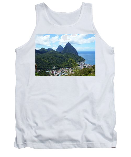 Tank Top featuring the photograph The Pitons, St. Lucia by Kurt Van Wagner