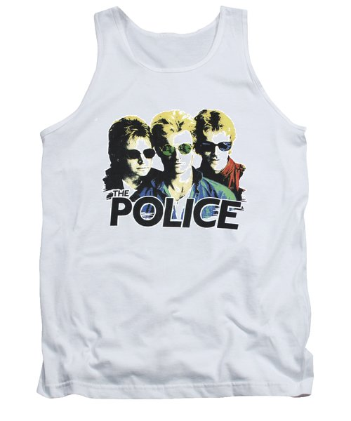 Tank Top featuring the digital art The Police by Gina Dsgn