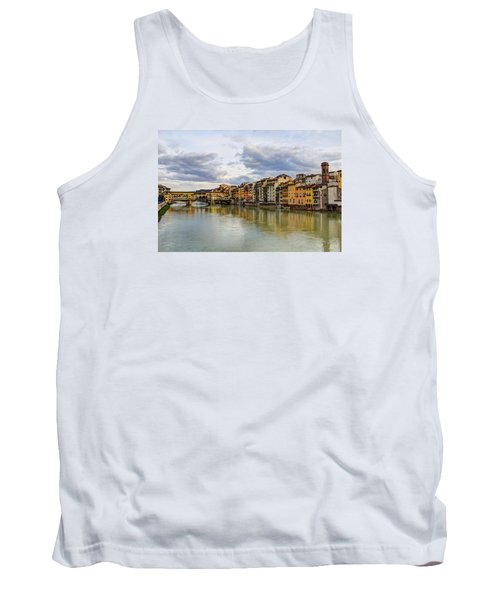 Tank Top featuring the photograph The Ponte Vecchio And Florence by Wade Brooks
