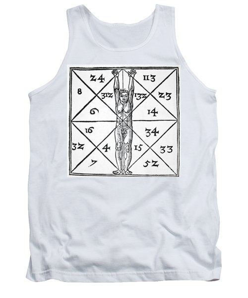 The Proportions Of Man And Their Occult Numbers From De Occulta Philosophia Libri IIi Tank Top