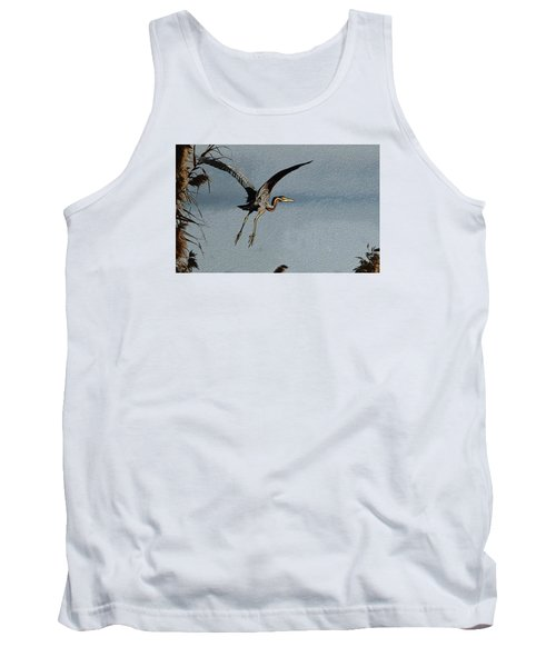 The Purple Heron Tank Top by Manjot Singh Sachdeva