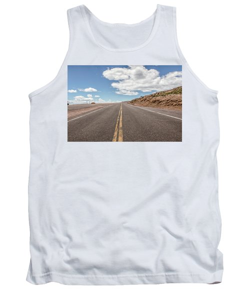 Tank Top featuring the photograph The Road Up Pikes Peak At Around 12,000 Feet by Peter Ciro
