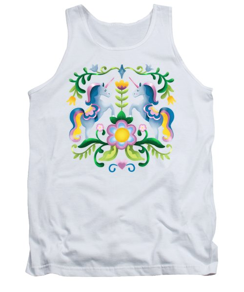 The Royal Society Of Cute Unicorns Light Background Tank Top