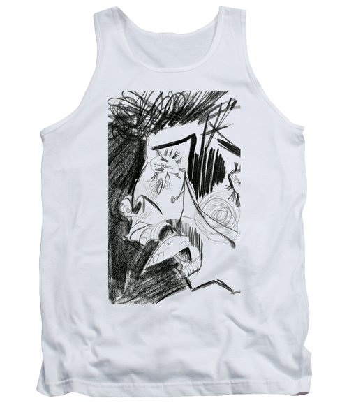 The Scream - Picasso Study Tank Top by Michelle Calkins