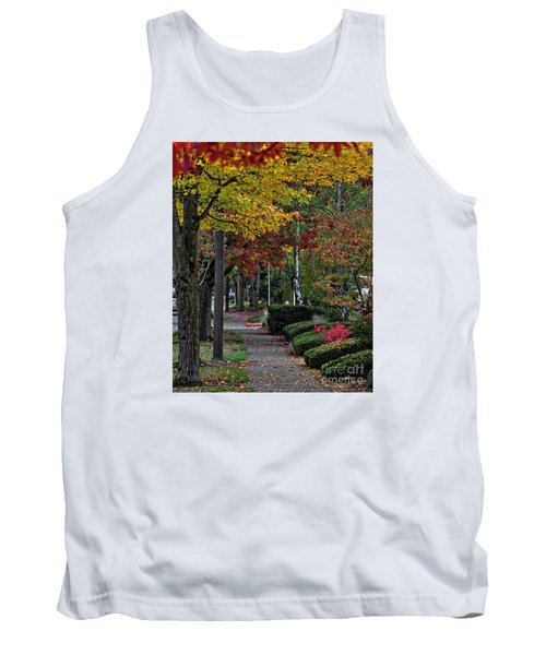 Tank Top featuring the photograph The Sidewalk And Fall by Kirt Tisdale