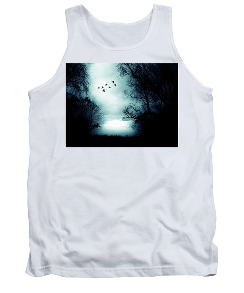 The Skies Hold Many Secrets Known Only To A Few Tank Top by Michele Carter