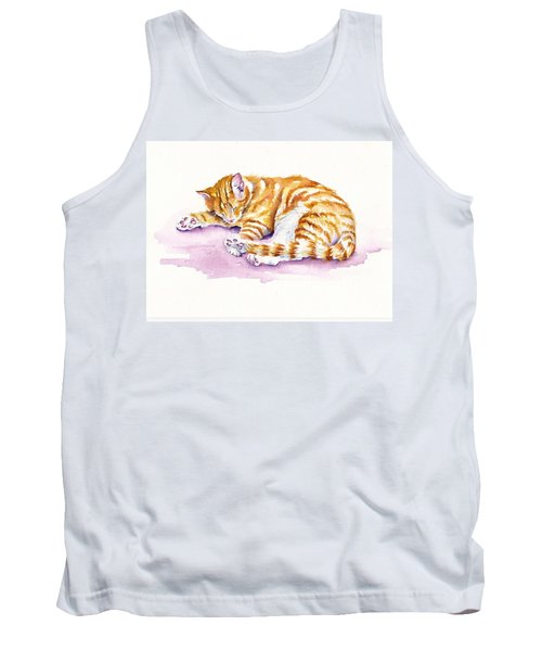 The Sleepy Kitten Tank Top
