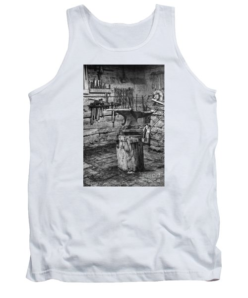 Tank Top featuring the photograph The Smithy's Work Awaits by William Fields