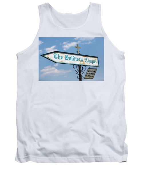 The Soldiers Chapel Sign Tank Top