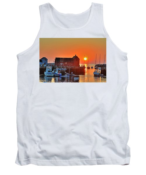 The Sun Rising By Motif Number 1 In Rockport Ma Bearskin Neck Tank Top