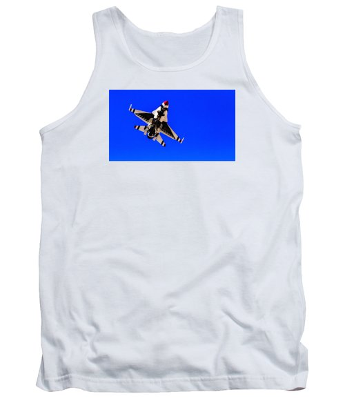 Tank Top featuring the photograph The Team Usaf Thunderbirds by Michael Rogers