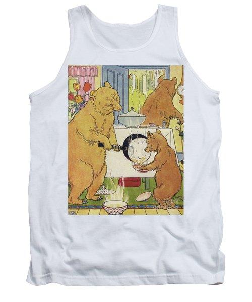 The Three Bears Making Their Porridge Tank Top